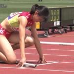 【JC・JK限定】女子陸上選手…クラウチングスタートにユニホーム姿の生足太ももお腹が抜けるwwwww