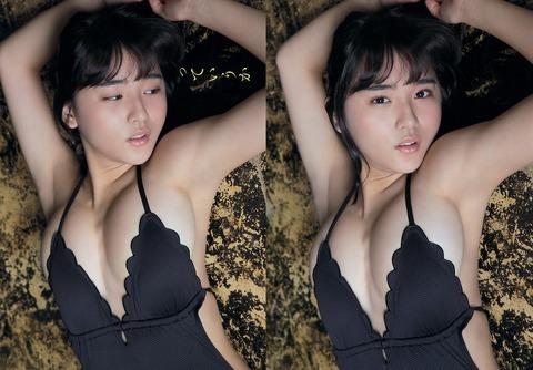(写真)限界ギリギリヘンタイミズ着のスパガ浅川梨奈ワロタwww17才になんてミズ着着させてんだwwwwwww
