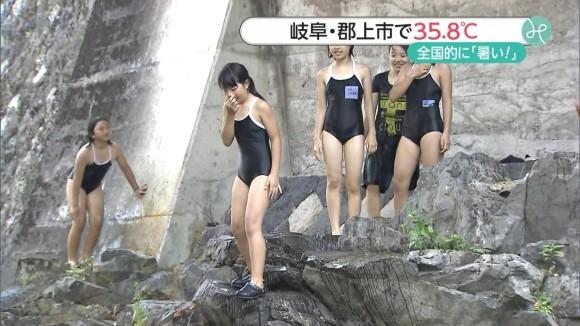 夏のニュース番組はすぐえろいシロウト小娘が映るから楽しかったわ~☆(地上波えろキャプ写真あり)