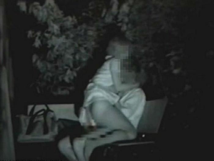 深夜の公園で外青姦SEXするカップルを赤外線カメラで無事秘密撮影wwwwwwwwwwww(写真あり)