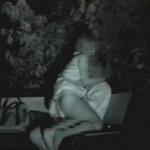 深夜の公園で野外青姦セックスするカップルを赤外線カメラで無事盗撮wwwwww(画像あり)
