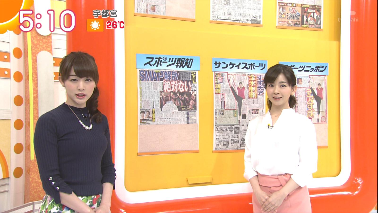 新井恵理那 グラビア&キャプえろ写真25枚☆Dカップ着衣美巨乳がたまらないグッド☆モーニングのフリーアナウンサー