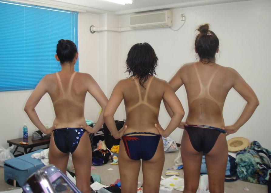 女子水泳部の競泳水着姿がハプニング祭りのエロ画像21枚