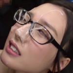 ぶっかけで一番エロいメガネ女子への顔射エロ画像25枚