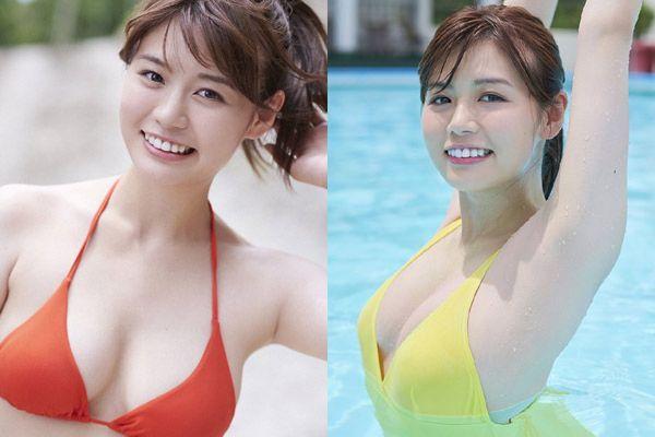 井口綾子のむっちり色白ボディーが拝める水着グラビア